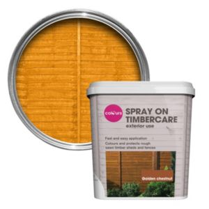 View Colours Spray On Golden Chestnut Matt Shed & Fence Stain 5L details