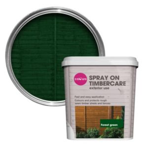 View Colours Spray On Timbercare Forest Green Shed & Fence Stain 5L details