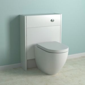 View Cooke & Lewis Slimline White Toilet Unit with Clad On-Panels details