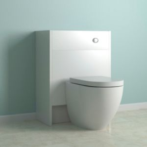 View Enza White Toilet Unit with Clad-On End Panels details