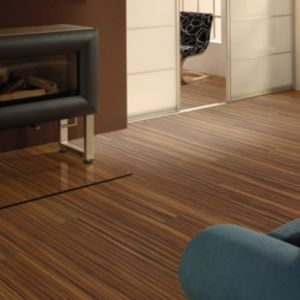 View Colours Cantana Zebrano Effect Laminate Flooring 2.46m² details