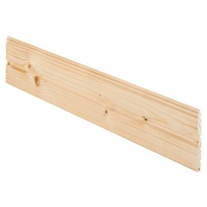 View Geom Softwood Unfinished Cladding (L)890 mm (W)95 mm (T)7.5 mm, Pack of 5 details
