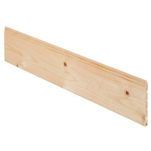 View Geom Softwood Unfinished Cladding (L)2400 mm (W)95 mm (T)7.5 mm, Pack of 5 details