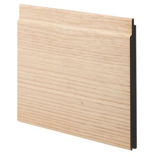 View Geom MDF Oak Oak Veneer Cladding (L)1800 mm (W)144 mm (T)12 mm, Pack of 2 details
