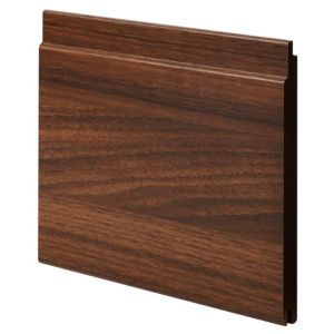View Geom MDF Walnut Walnut Finish Cladding (L)890 mm (W)144 mm (T)12 mm, Pack of 2 details