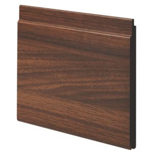 View Geom Walnut Effect MDF Cladding (W)144mm (L)2.4m (T)12mm, Pack of 2 details