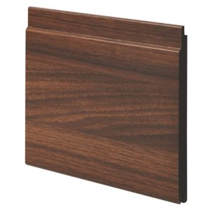 View Geom MDF Walnut Walnut Finish Cladding (L)1800 mm (W)144 mm (T)12 mm, Pack of 2 details