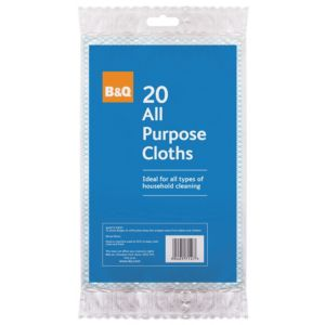 View B&Q Blue & White Viscose Cloth Pack of 20 details