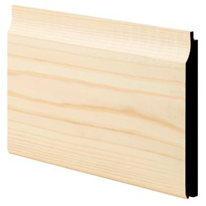 View Geom Softwood Unfinished Cladding (L)3600 mm (W)119 mm (T)14.5 mm, Pack of 1 details