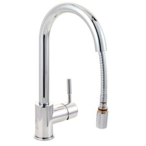 View Cooke & Lewis Saru Chrome Effect Pull Out Tap details