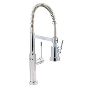 View Cooke & Lewis Locone Chrome Effect Spring Neck Tap details