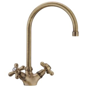 View Cooke & Lewis Newport Antique Brass Effect Monobloc Tap details