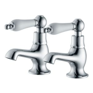 View Cooke & Lewis Timeless Chrome Hot & Cold Basin Taps, Pack of 2 details