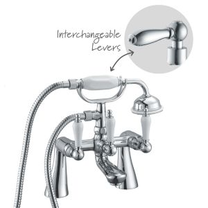 View Cooke & Lewis Timeless Chrome Bath Shower Mixer Tap details