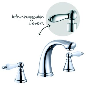 View Cooke & Lewis Timeless Chrome Bath Mixer Tap, Set of 1 details