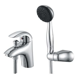 View Cooke & Lewis Wave Chrome Bath Shower Mixer Tap details