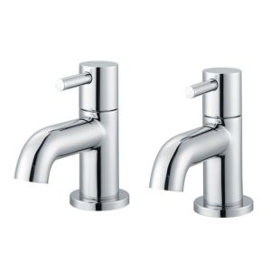 View Cooke & Lewis Minima Chrome Hot & Cold Basin Taps, Pack of 2 details