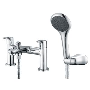 View Cooke & Lewis Senio Chrome Bath Shower Mixer Tap details