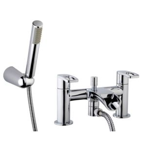 View Cooke & Lewis Saverne Chrome Bath Shower Mixer Tap details