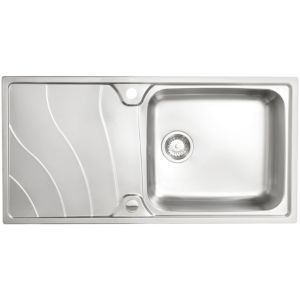 View Cooke & Lewis Korner 1 Bowl Stainless Steel Sink & Drainer details