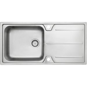 View Cooke & Lewis Cubico 1 Bowl Stainless Steel Sink & Drainer details