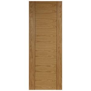 1 Panel Oak Veneer Internal Unglazed Door  (H)1981mm (W)686mm
