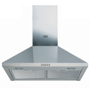 View Cooke & Lewis Silver Chimney Cooker Hood (W)599mm details