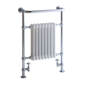 View Blyss Victoria Traditional Towel Warmer Chrome Effect (H)952 (W)675mm details