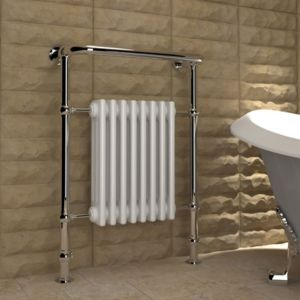 View Kudox Victoria Traditional Towel Warmer Chrome Effect (H)952 (W)675mm details