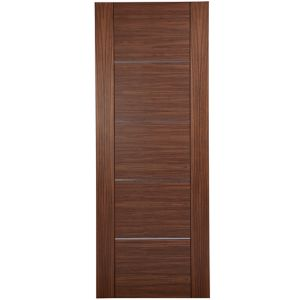 View Flush Walnut Veneer Internal Fire Door, (H)1981mm (W)838mm details