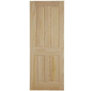 View 4 Panel Clear Pine Internal Fire Door, (H)1981mm (W)838mm details