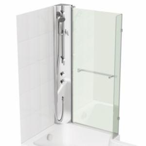 over bath shower screen shop for cheap bathrooms and square bath screen with rail bathscreens 163 61 6 at cheap