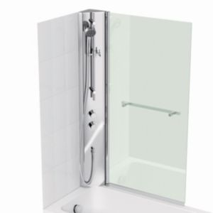Cooke & Lewis Adelphi RH Shower Column & Straight Bath Screen (W)800mm