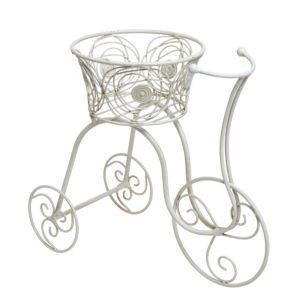 View White Wash Bicycle Planter (H)420mm (Dia)200mm details