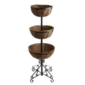 View Blooma Black 2-Tier Flower Fountain details