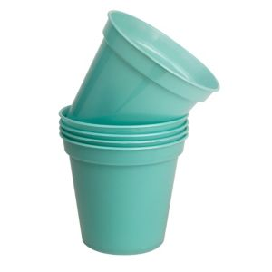 View Plastic Blue Plant Pot (H)12cm (Dia)12.7cm, Pack of 5 details