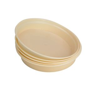 View Verve Cream Plastic Saucer, Pack of 5 details