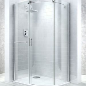 View Cooke & Lewis Eclipse Offset Quadrant Shower Enclosure, Tray & Waste LH (W)1200mm (D)900mm details