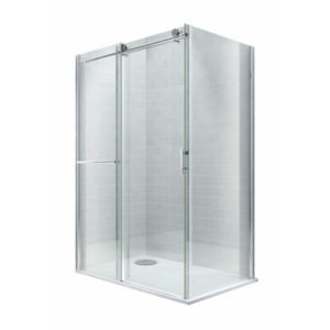 View Cooke & Lewis Eclipse Rectangular LH Sliding Shower Enclosure, Tray And Waste with Sliding Door (W)1200mm (D)800mm details
