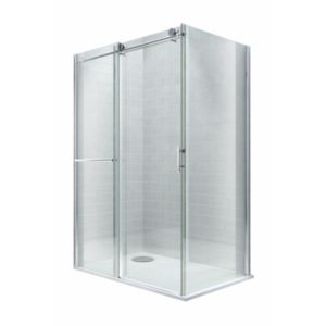 View Cooke & Lewis Eclipse Rectangular Shower Enclosure, Tray & Waste RH (W)1400mm (D)800mm details