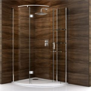 View Cooke & Lewis Cascata Offset Quadrant Shower Enclosure, Tray & Waste RH (W)1200mm (D)900mm details