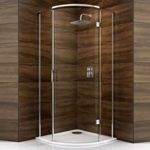 View Cooke & Lewis Cascata Quadrant Hinged Shower Enclosure, Tray And Waste with Hinged Door (W)800mm (D)800mm details