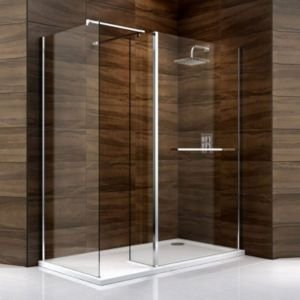 View Cooke & Lewis Cascata Rectangular RH Shower Enclosure, Tray & Waste Pack with Walk-In Entry (W)1400mm (D)900mm details
