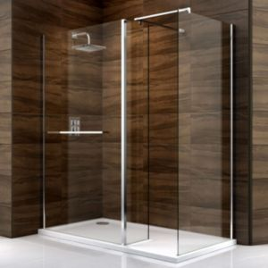 View Cooke & Lewis Cascata Rectangular Shower Enclosure LH (W)1700mm (D)900mm details
