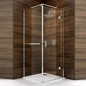 View Cooke & Lewis Cascata Square Shower Enclosure, Tray & Waste (W)760mm (D)760mm details