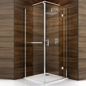View Cooke & Lewis Cascata Square Shower Enclosure, Tray & Waste (W)800mm (D)800mm details