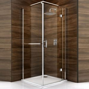 View Cooke & Lewis Cascata Square Hinged Shower Enclosure, Tray And Waste with Hinged Door (W)900mm (D)900mm details
