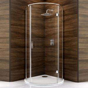 View Cooke & Lewis Cascata Circular Shower Enclosure, Tray & Waste (W)1000mm (D)1000mm details