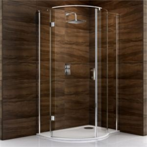 View Cooke & Lewis Cascata P Shaped Shower Enclosure, Tray & Waste RH (W)1200mm (D)900mm details