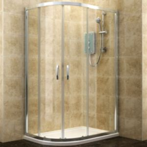 View Cooke & Lewis Deluvio Offset Quadrant Shower Enclosure & Tray LH (W)1200mm (D)800mm details